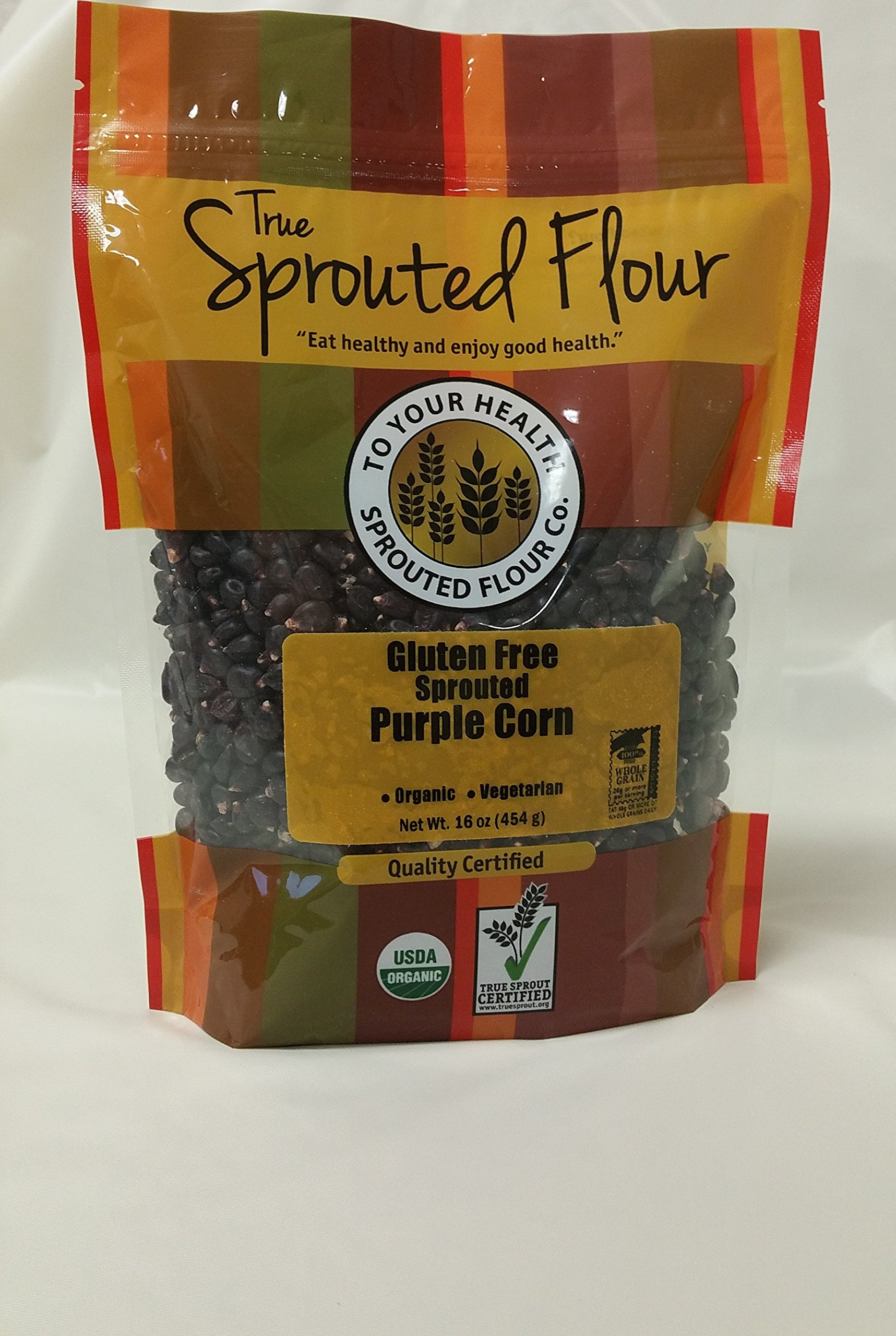 5lb. Organic, Sprouted Purple Corn by To Your Health Sprouted Flour Co.