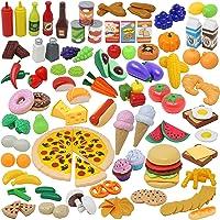 135pcs Corte de Frutas y Alimentos Verduras Pizza