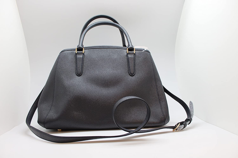 3d3e807d74c8d COACH F57527 SMALL MARGOT CARRYALL IN CROSSGRAIN LEATHER MIDNIGHT   Handbags  Amazon.com