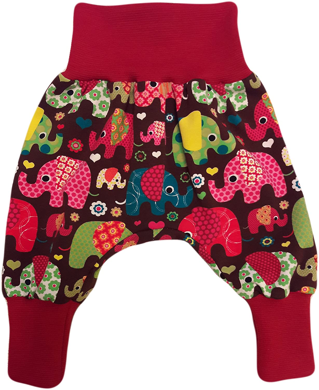 simply-sweet-baby Babyhose Pumphose Haremshose Bunte Elefanten Braun