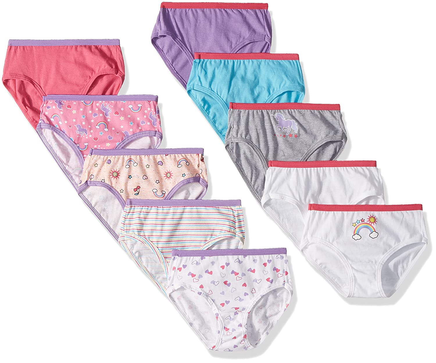 Assorted Hanes Girls Brief Multipack