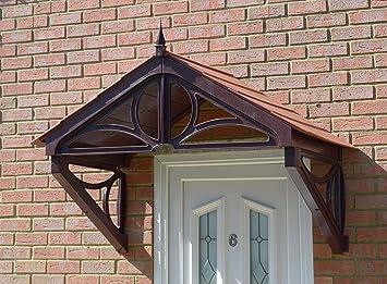 Hilton Storm Porch Canopy From KoverTek (UK Made) (Brown Frame Terracotta Roof & Hilton Storm Porch Canopy From KoverTek (UK Made) (Brown Frame ...