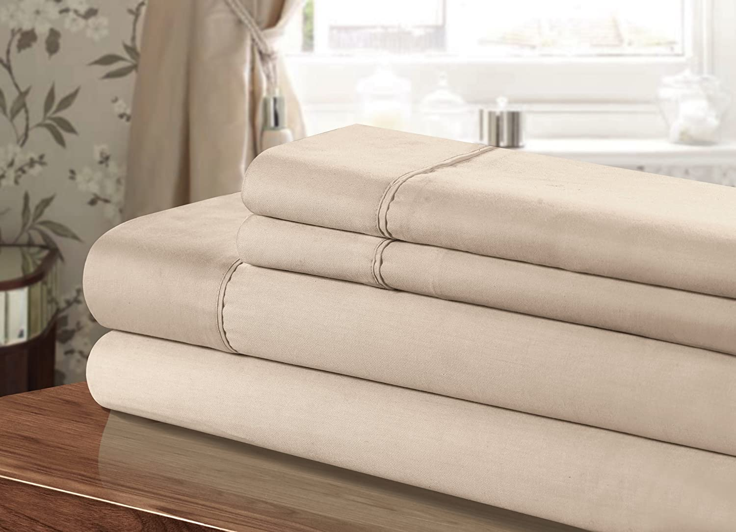 Chic Home Sheet Set, Twin, Taupe