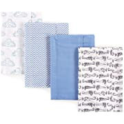 Hudson Baby Unisex Baby One Size, Airplane 4-Pack, One Size