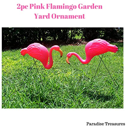 Amazon.com : Paradise Treasures Bright Pink Flamingo Garden Yard ...