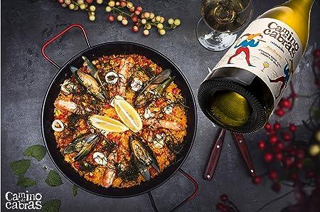 CAMINO DE CABRAS Albariño D.O. Rias Baixas - Vino blanco 6 botellas x 75cl - Vino de calidad - Vino bueno para regalo - Producto Gourmet - Vino Premium - Caja de vino - Perfecto para regalar
