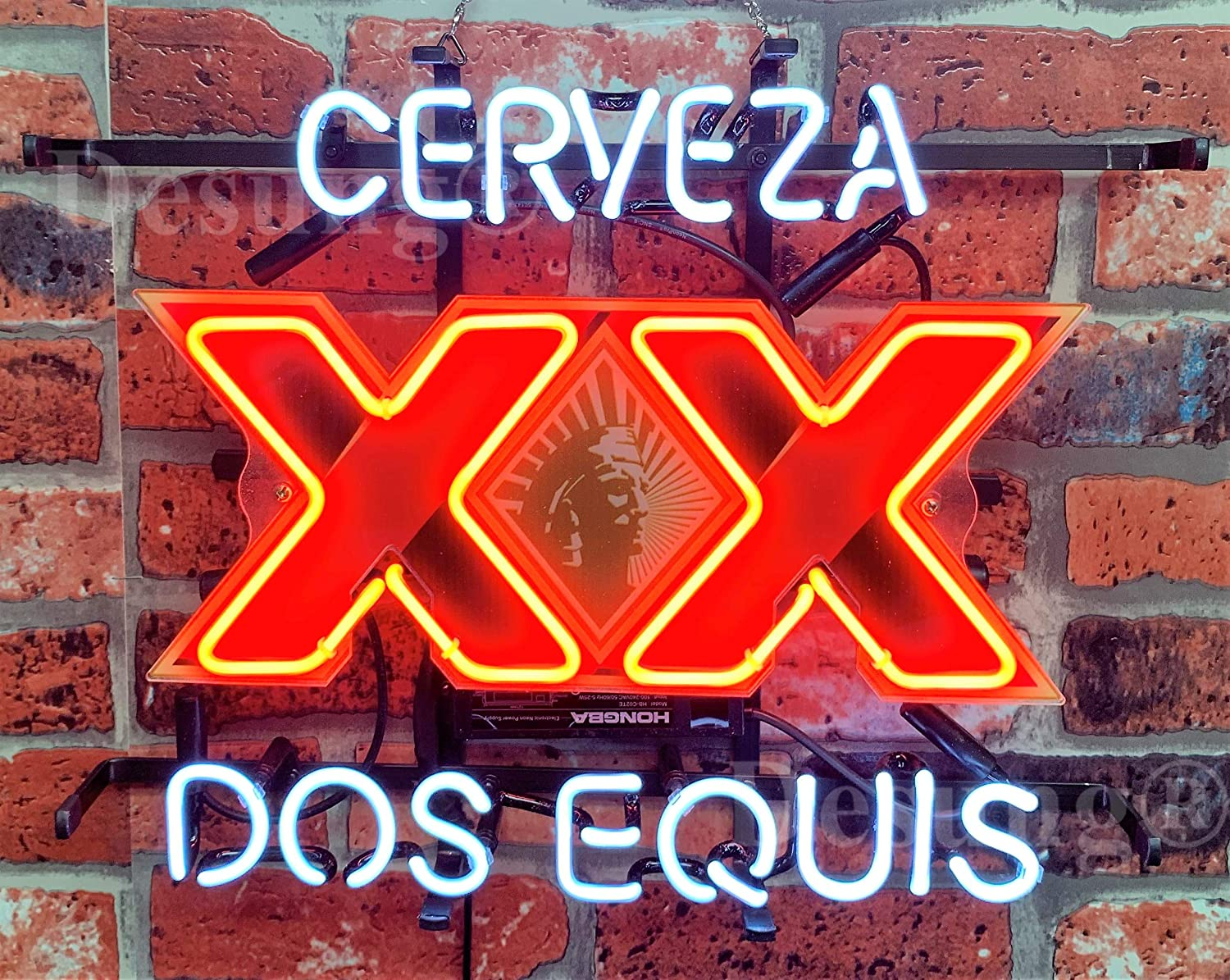 """New DOS Equis XX Imported Beer On Tap Beer Bar Pub Light Lamp Neon Sign 24/""""x20/"""""""