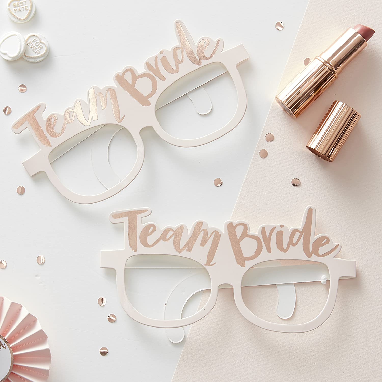 Ginger Ray Hen Party Rose Gold Team Bride Photo Booth Props ...
