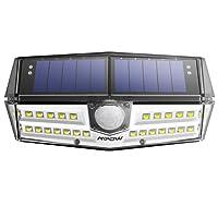 Mpow 30 LED Eclairage Solaires Extérieure Etanche IPX6+, Nouvelle Génération Détecteur de Mouvement , Panneau Solaire 23% Conversion, 120 ° Grand Angle, LED Spot Solaire Idéal pour Jardin, Allée, Cour, Garage, Escalier