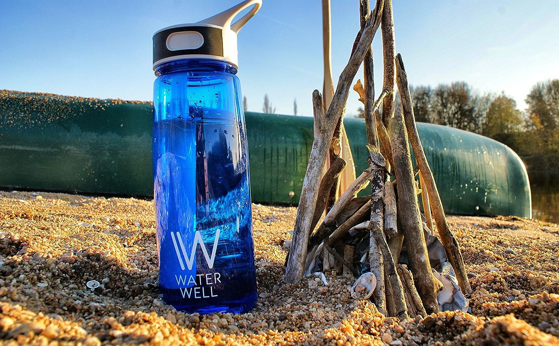 Filtra 1000 Litros 700ml Botella con tapa higi/énica Purifica el Agua al Eliminar 99.9/% de Bacterias y Par/ásitos del Agua Botella de Agua de Viaje Flujo aumentado y 100/% a prueba de fugas