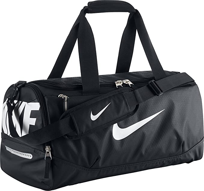 ff5d4976ddea Amazon.com  New Nike Team Training Max Air Small Duffel Bag Black Black White   Sports   Outdoors