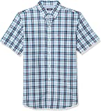 IZOD Men's Breeze Short Sleeve Button Down Plaid Shirt
