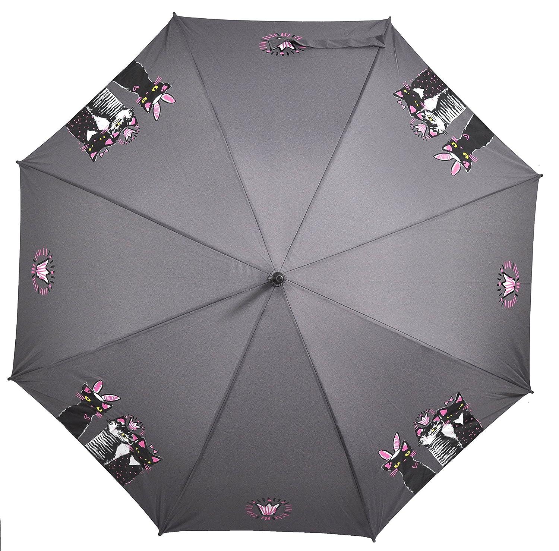 Paraguas largo mujer doppler fiber automático royal cats: Amazon.es: Equipaje