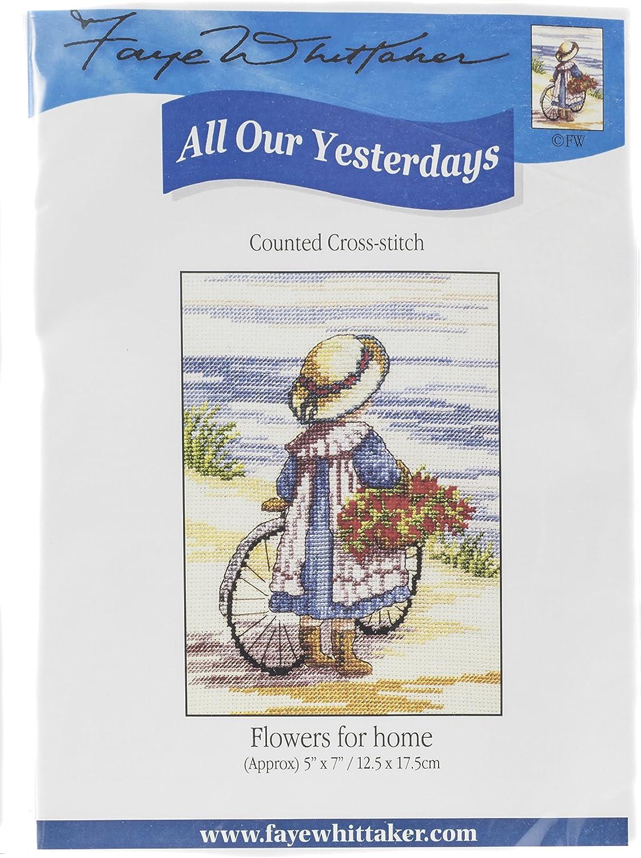 Mixte Gamme Faye Whittaker Tous nos Yesterdays Fleurs pour la Maison Kit Broderie pour Point de Croix Motif