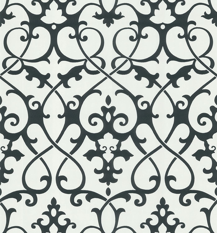 Brewster 414-62917 Jacques Black Ironwork Wallpaper