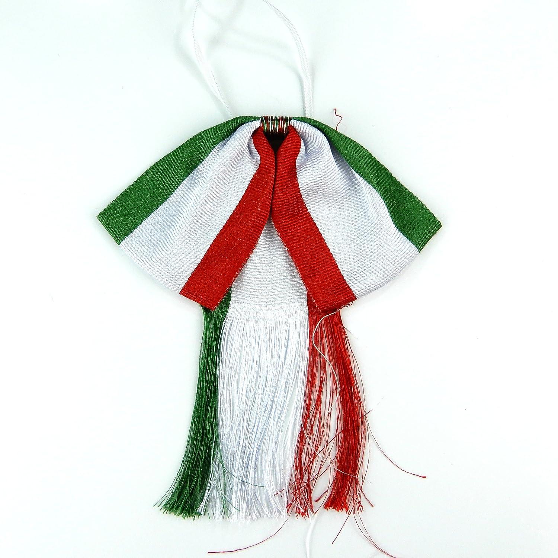 Pajarita mexicana con diseño de carro, color rojo, verde y blanco ...