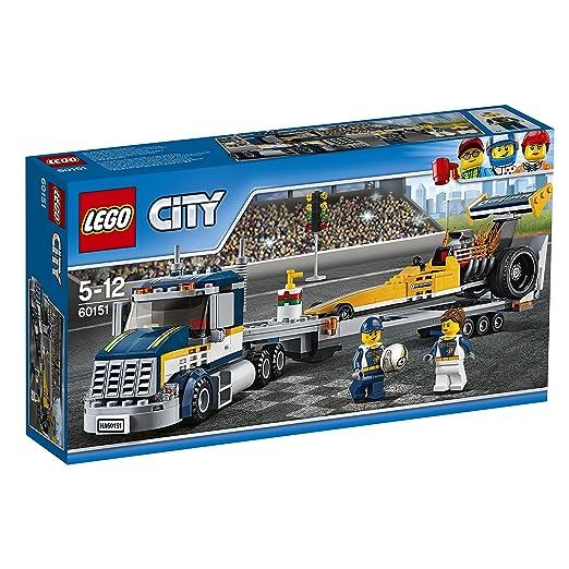 643 opinioni per LEGO City 60151- Great Vehicles Trasportatore di Dragster