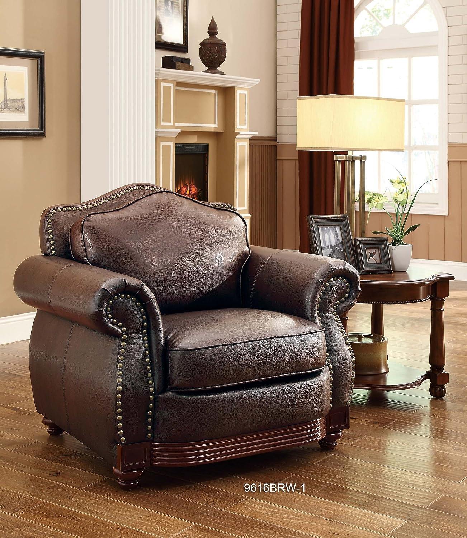 Amazon Homelegance 9616BRW 2 Loveseat Dark Brown Bonded