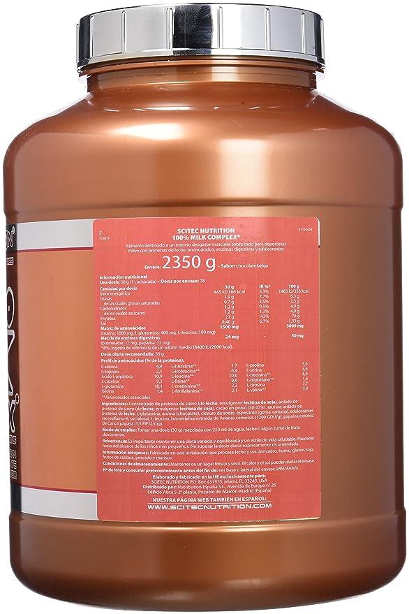 Scitec Nutrition 100% Milk Complex proteína chocolate belga 2350 g
