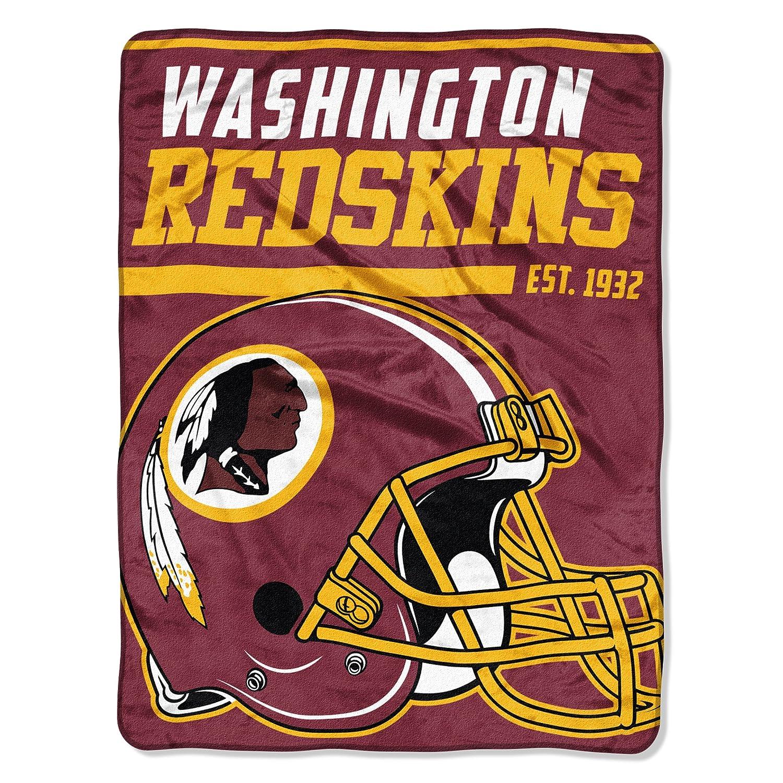 (Washington Redskins) - The Northwest Company NFL 40 Yard Dash Micro Raschel Throw, 120cm x 150cm B01M7Z6NUC