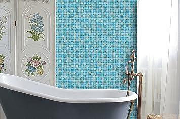dzaale Mosaik Blue Ocean Gold Star Glas Mosaik-Kunst Fliesen ...