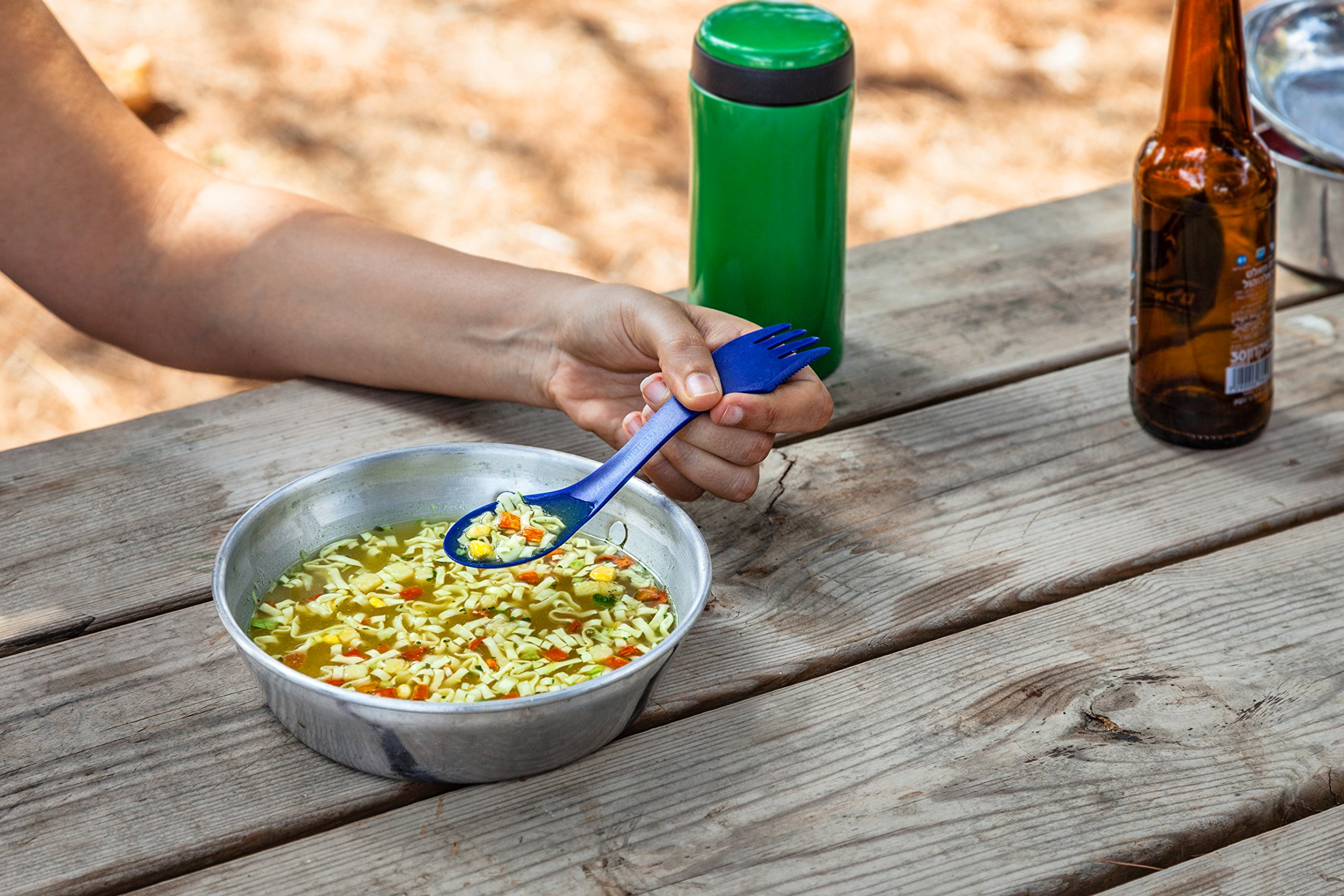 Tapirus 4 Blue Spork To Go Set | Durable & BPA Free Tritan Sporks | Spoon, Fork & Knife Combo Utensils Flatware | Mess Kit For Camping, Fishing, Hunting & Outdoor Activities | Comes In A Carrying Case by Tapirus (Image #8)