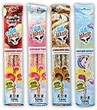 Milk Magic Milk Flavoring Straws, 4-Pack Bundle (16 count),Unicorn Kisses, Strawberry Banana, Birthday Cake, Cinnamon…
