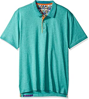 e6e48354 Robert Graham Mens Edwin Short Sleeve Polo Polo Shirt: Amazon.ca ...