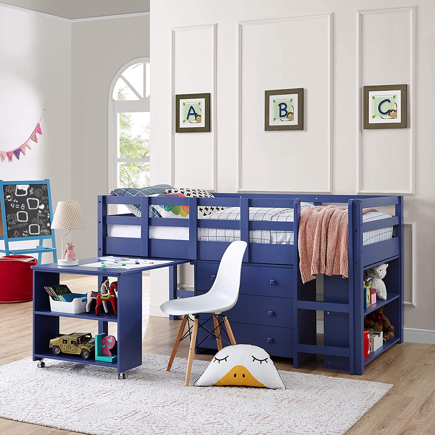 Best for Durability: Naomi Home Low Study Loft Bed