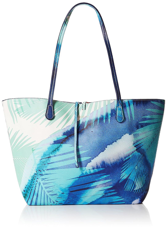 Desigual Bols_blue Palms Capri femme Sacs portés épaule Turquoise (Turquesa) 28x13x30 cm (B x H x T) 18SAXP06