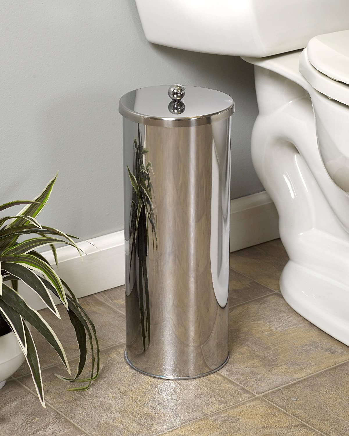 Amazon.com: ZPC Zenith Products Corporation Zenna Home 7666ST, Toilet Paper  Canister, Polished Stainless Steel: Home U0026 Kitchen