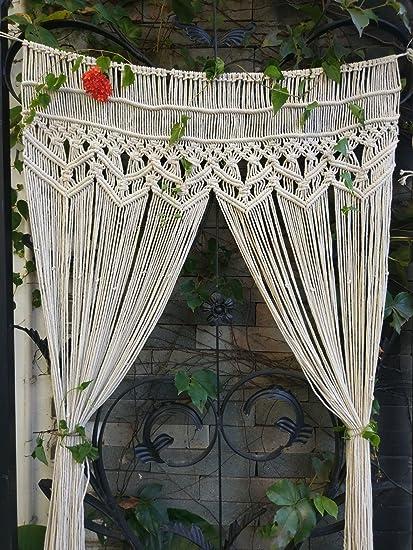 RISEON Macrame Wall Hanging Tapestry- Macrame Door HangingRoom idermacrame Curtains & Amazon.com: RISEON Macrame Wall Hanging Tapestry- Macrame Door ...