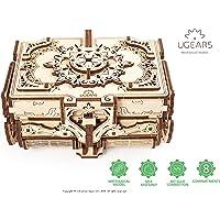 UGEARS 3D 3D 3D-modelbouwset houten kist 3D houten kist schatkist 3D puzzel voor volwassenen