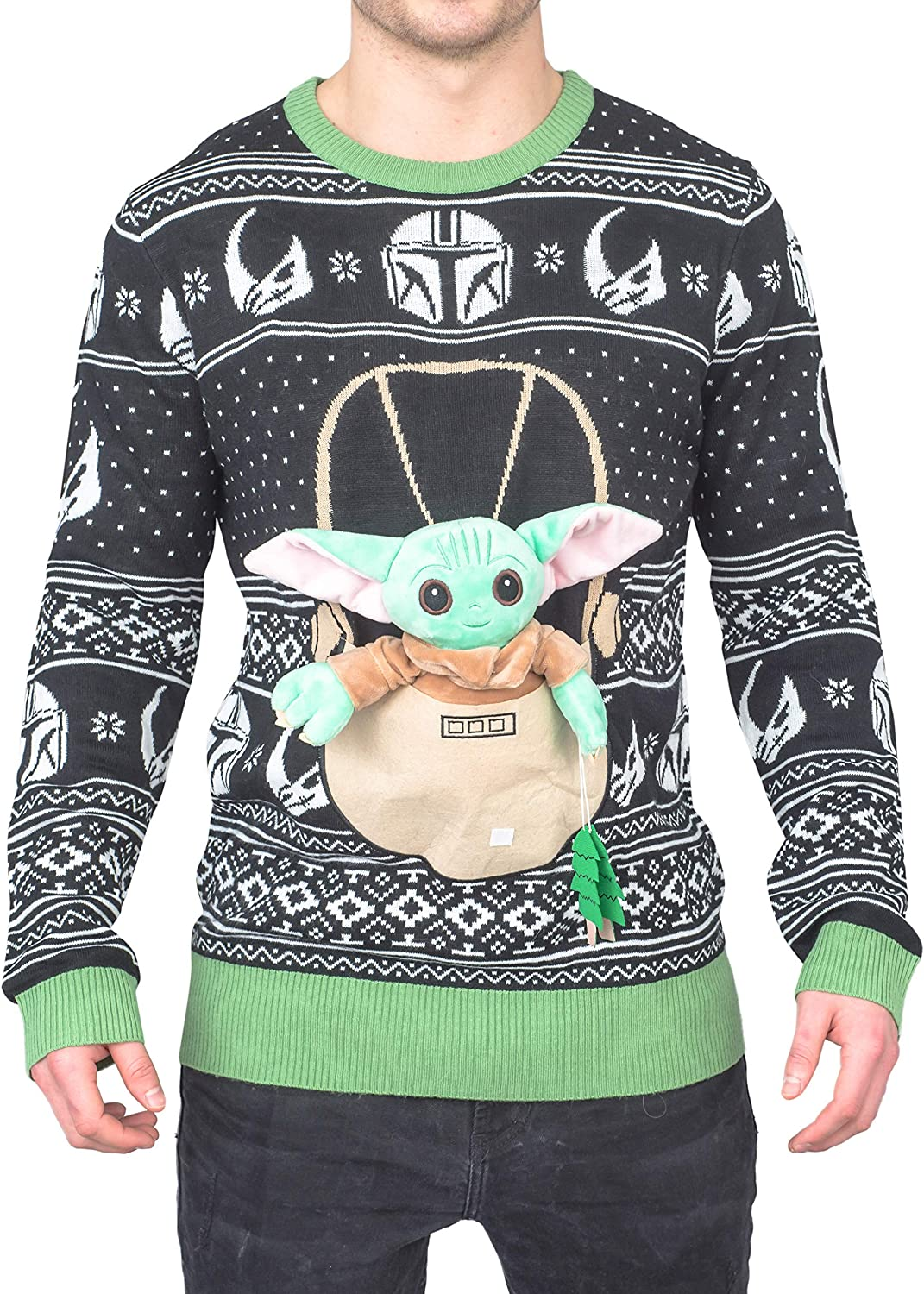 Star Wars Baby Yoda The Child Forces Trees Ugly Christmas Sweater