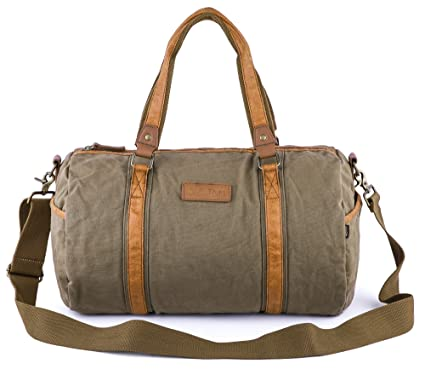 Gootium Duffle Bag - Canvas Travel Duffel Weekender Shoulder Bags Gym Tote b30b6e8ad8575