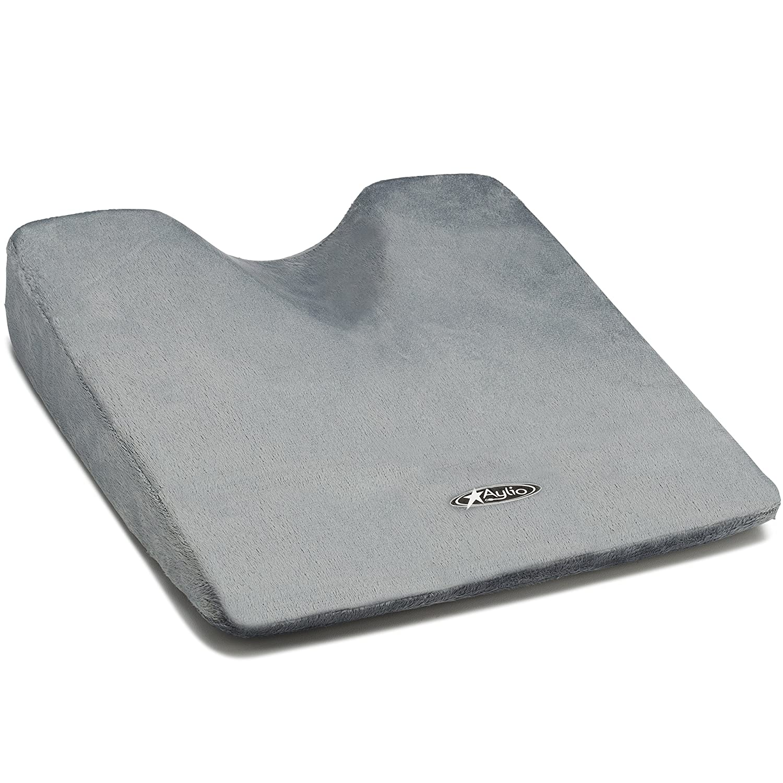 Amazon com black chair cushions - Aylio Comfort Foam Wedge Coccyx Cushion For A Car Seat Or Chair