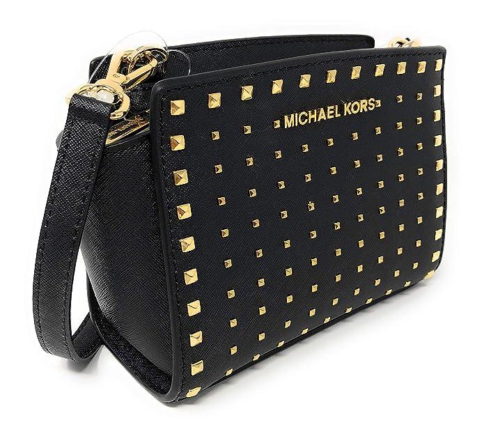 Amazon.com: Michael Kors Selma Stud Mini Saffiano Bolsa de ...