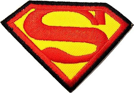 Superman Logo - Parche Termoadhesivos Bordado Parches Para La Ropa Termoadhesivo Apliques: Amazon.es: Hogar