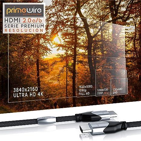 Primewire 2m Cable de HDMI - 4K 60Hz 4096 x 2160p HDR UHD 4x4x4 18Gbps: Amazon.es: Electrónica