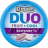 Ice Breakers DUO FRUITS & COOL FRAMBOISE SUCRE MINTS GRATUIT 1 x 36g TUB IMPORT AMÉRICAIN