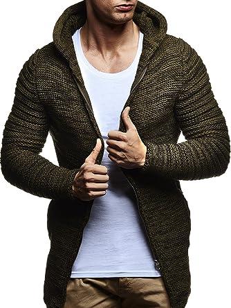 LEIF NELSON Herren Hoodie Strickjacke Jacke Kapuzenpullover Sweatjacke  Zipper Sweatshirt LN20741: Amazon.de: Bekleidung