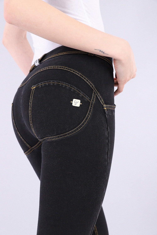 FREDDY Pantalone WR.UP/® Skinny Vita e Lunghezza Regular in Denim Scuro