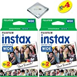 Fujifilm instax Wide Instant Film 4 Pack (40 Exposures) for Fujifilm instax Wide 300, 200, and 210 cameras