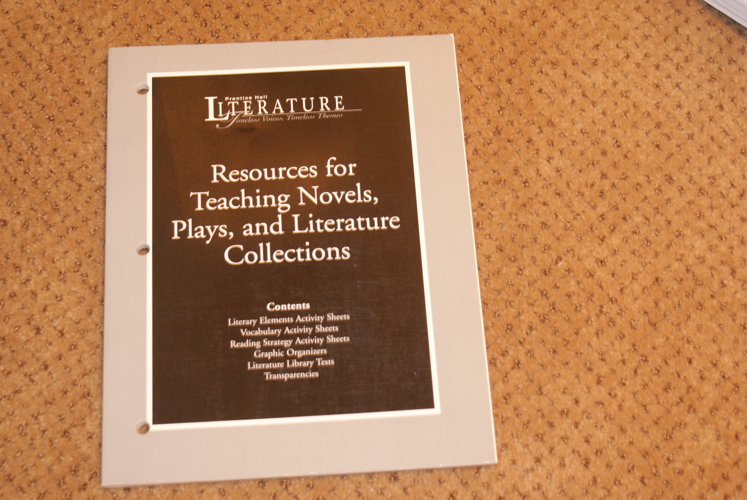 Prentice Hall Literature Timeless Voices Timeless Themes Resources
