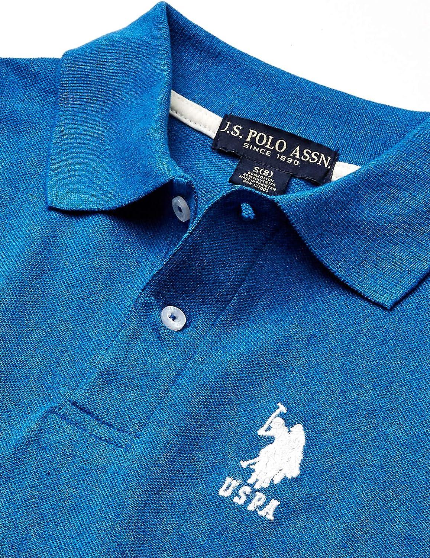 Boys Short Sleeve Marled Pique Polo Shirt Polo Shirt POLO ASSN U.S