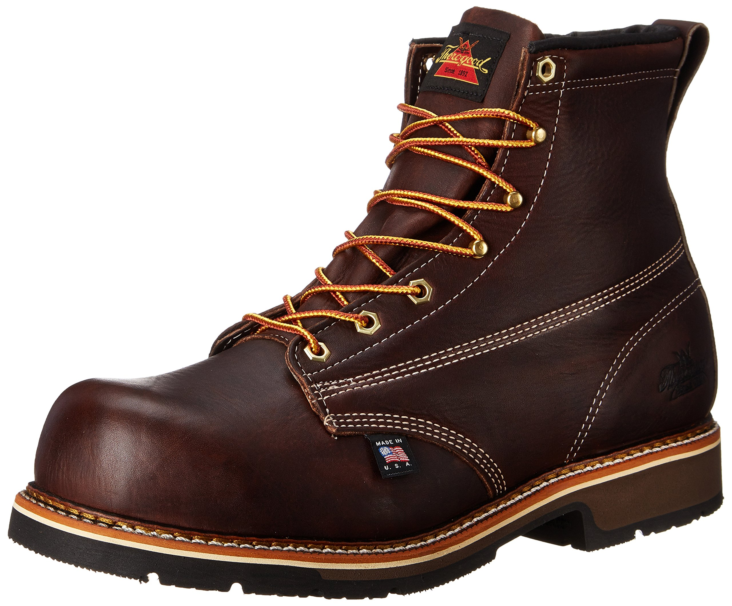 Thorogood Men's American Heritage 6 Inch Safety Toe Lace-up Boot,Brown,10.5 D US