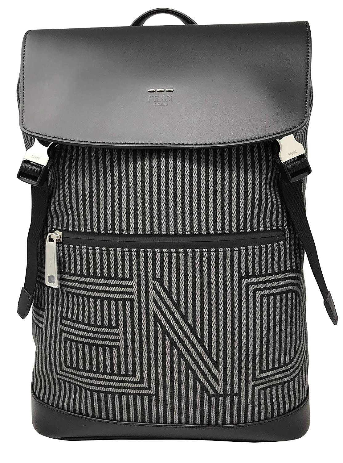 Image of Fendi Men's 7Vz031ommf07al Black Polyamide Backpack Luggage