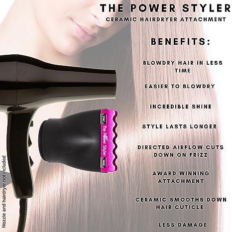 Accesorio de cerámica boquilla secador de pelo para el secador del soplo, crear liso brillante Ahorre tiempo obtener los resultados de la enderezadora del ...