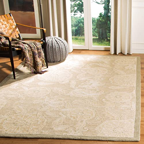 Safavieh Chelsea Collection HK156A Hand-Hooked Light Brown Premium Wool Area Rug 8'9″ x 11'9″