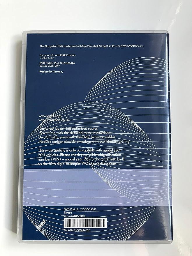 2017 Opel Vauxhall DVD800 CD500 mapa de navegación Update DVD SAT NAV Disco: Amazon.es: Electrónica